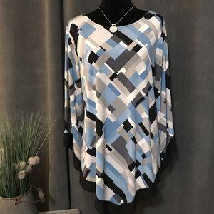 Alfani Woman Geometric Print Top, Size 2X